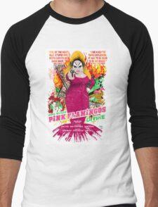John Waters Pink Flamingos Divine Cult Movie  Men's Baseball ¾ T-Shirt