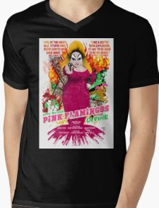 John Waters Pink Flamingos Divine Cult Movie  Mens V-Neck T-Shirt