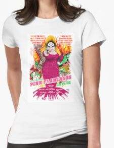John Waters Pink Flamingos Divine Cult Movie  Womens Fitted T-Shirt