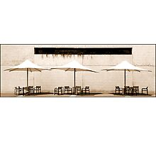 Waiting Tables Photographic Print