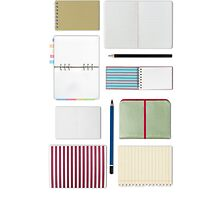 notebook and blank paper set by naphotos