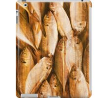 fish pattern on wood iPad Case/Skin