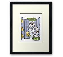 Gollum goes to the Grocery Framed Print