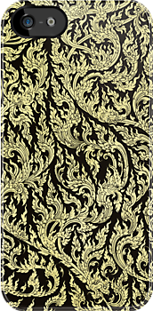 golden dragon pattern by naphotos