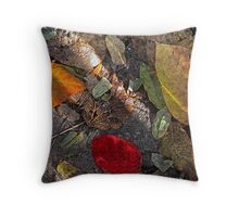 One Red Leaf in the Shadows Throw Pillow