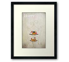 Happy Birthday (Cake Version) Framed Print