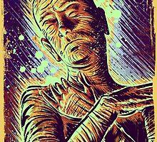 The Mummy Art joe badon universal monster monsters bandages horror classic movie film Boris Karloff Halloween Egyptian prince Imhotep by Joe Badon