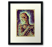 The Mummy Art joe badon universal monster monsters bandages horror classic movie film Boris Karloff Halloween Egyptian prince Imhotep Framed Print