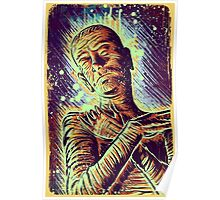 The Mummy Art joe badon universal monster monsters bandages horror classic movie film Boris Karloff Halloween Egyptian prince Imhotep Poster