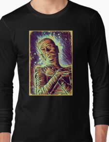 The Mummy Art joe badon universal monster monsters bandages horror classic movie film Boris Karloff Halloween Egyptian prince Imhotep Long Sleeve T-Shirt