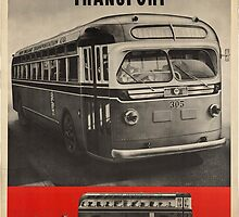 Vintage poster - Motor Coach Transport by mosfunky