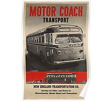 Vintage poster - Motor Coach Transport Poster