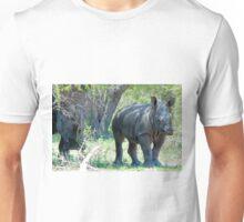 WILL HE MAKE ADULTHOOD - WHITE RHINOCEROS -  Ceratotherium simum - WIT RENOSTER Unisex T-Shirt