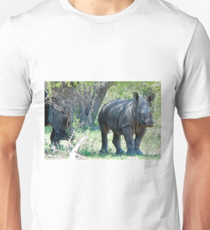 WILL HE MAKE ADULTHOOD - WHITE RHINOCEROS -  Ceratotherium simum - WIT RENOSTER Unisex T-Shirt