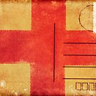 england flag on old postcard by naphotos