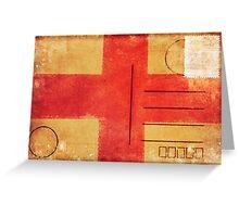 england flag on old postcard Greeting Card