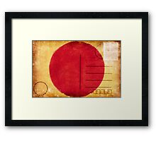 japan flag postcard Framed Print