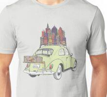 VW Beetle on a road trip Unisex T-Shirt