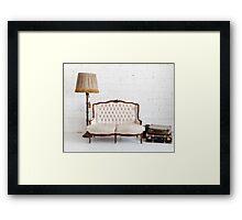 retro sofa Framed Print