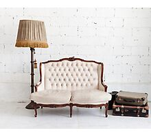 retro sofa Photographic Print