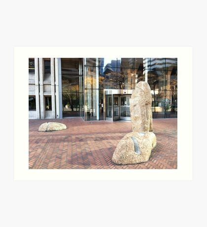 Downtown scene, Seattle, Washington Art Print