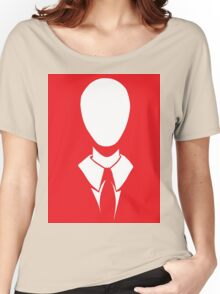 SLENDER MAN RED Women's Relaxed Fit T-Shirt