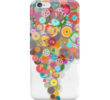 speech bubble design by gears and cogs iPhone Case/Skin