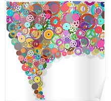 speech bubble design by gears and cogs Poster