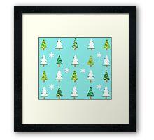 Winter Trees - Blue Framed Print