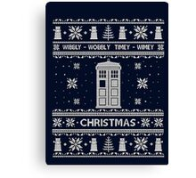 Doctor Who Shirt Ugly Christmas Sweater. Unisex/Adult Sweatshirt. Tardis Shirt. Geek Gift Idea. Canvas Print