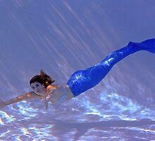 Blue Mermaid by AlynnArts