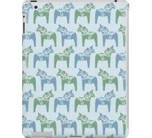 Dala horse (Blue) iPad Case/Skin