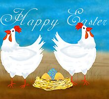 Easter Chicken Greeting Card by Moonlake