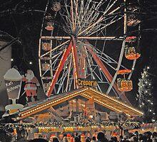 Christmas Ferris Wheel by Michael Brewer