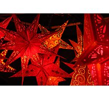 Red Star Lanterns Photographic Print