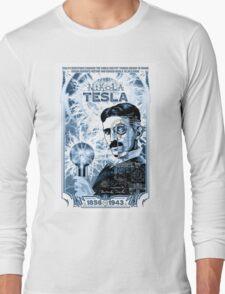 Inventor Nikola Tesla. Thomas Edison. Electricity Long Sleeve T-Shirt