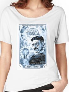 Inventor Nikola Tesla. Thomas Edison. Electricity Women's Relaxed Fit T-Shirt