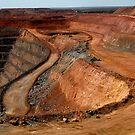 Kalgoorlie Super Pit by Frederick James Norman