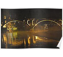 Bremgarten Railroad Bridge at night Poster
