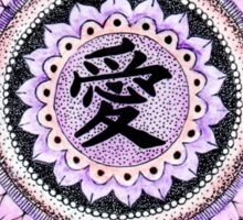 Pink Love Mandala Sticker