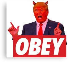 Donald Trump - Obey Canvas Print