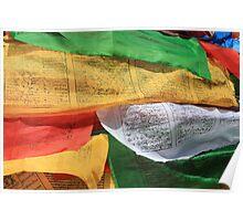 Tibetan Prayer Flags in Lhasa Poster