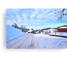 Snowy Swiss countryside near Lucerne, Switzerland. Canvas Print