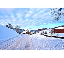 Snowy Swiss countryside near Lucerne, Switzerland. Photographic Print