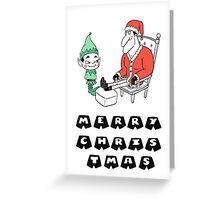 Santa No-Pants Greeting Card