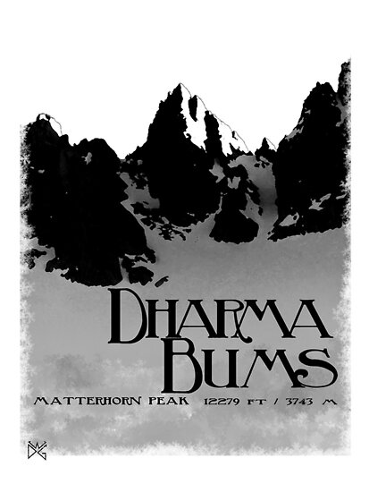 dharma bums - matterhorn peak by dennis william gaylor
