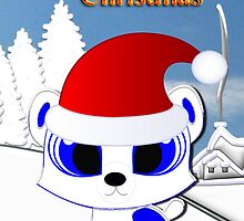A Really Cool Polar Bear Wishes You All a Merry Christmas by Dennis Melling