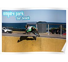Frontside Bone Air - Empire Park Skate Park Poster