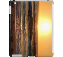sunset on beach iPad Case/Skin