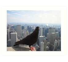 High flyer at the top of the Empire State! Art Print